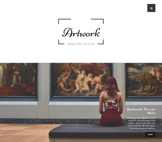 Art & Photography WordPress Theme