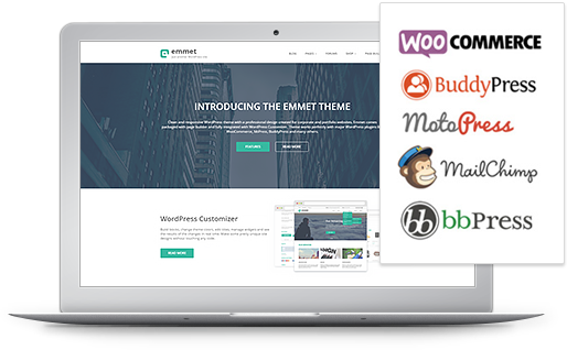 compatible with woocommerce, bbpress and buddypress