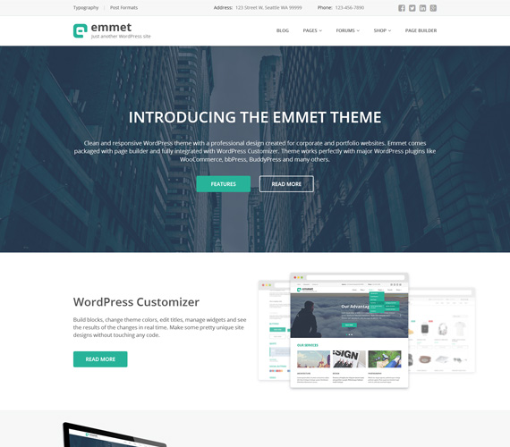 Emmet theme for WordPress