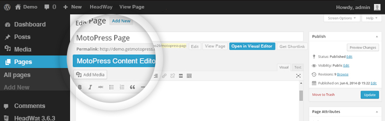 Headway Visual Editor