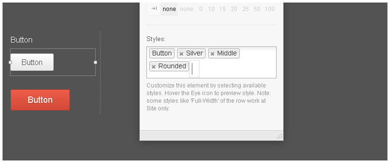 Style button in WordPress