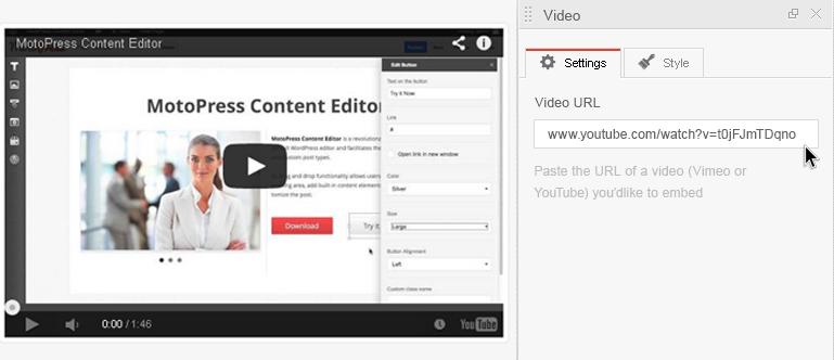 MotoPress video background