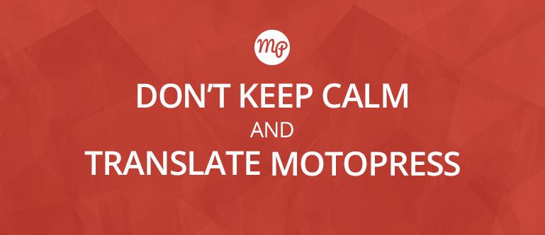 translate MotoPress visual editor with Transifex