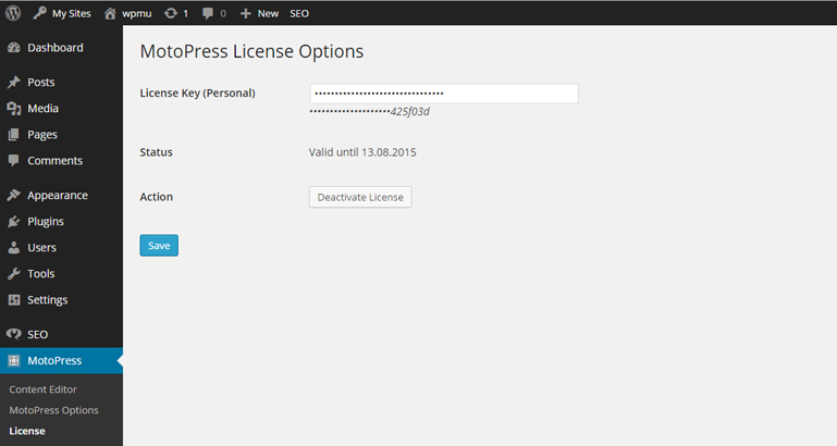 activate or deactivate wordpress lplugin