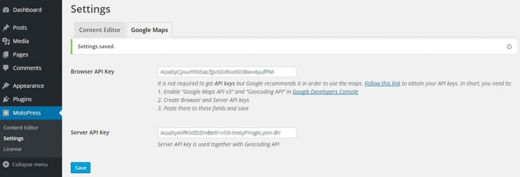 google maps api keys