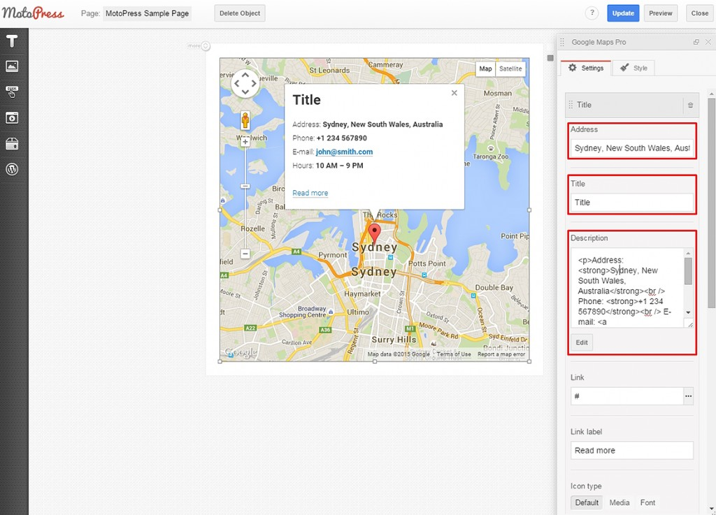 google maps edit