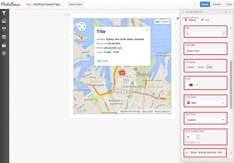 Google themes editor - Google Maps Edit Icon