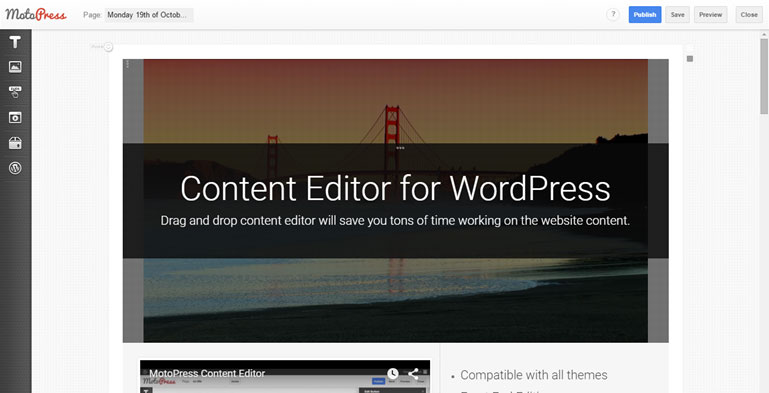 MotoPress Content Editor Landing Page Builder