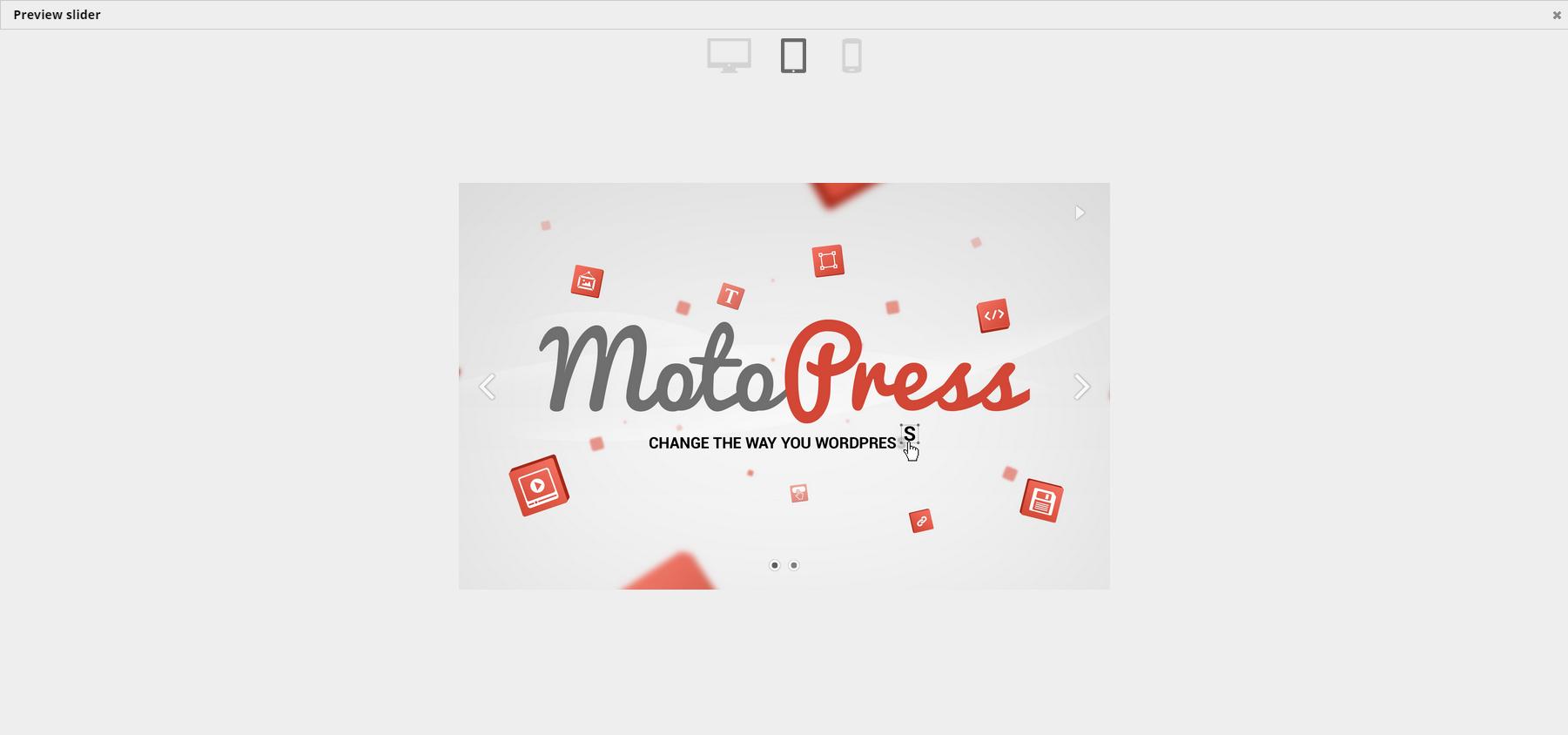 motopress slider preview