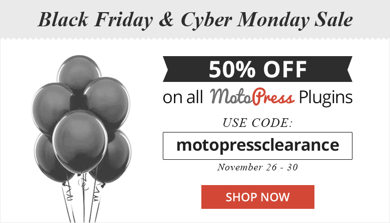 MotoPress Visual Builder and WordPress Slider with 50% discount
