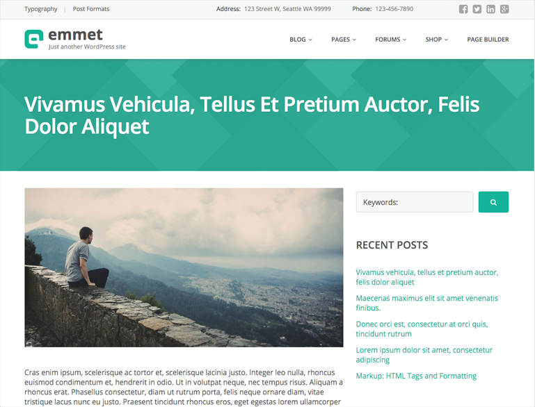 Blog post in Emmet.