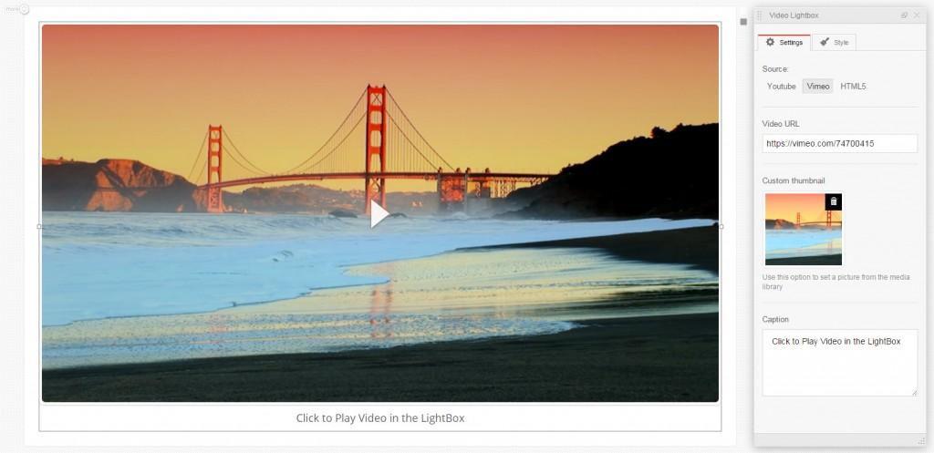 MotoPress Video Lightbox widget