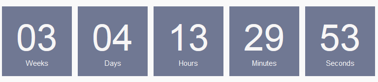 An example of the Countdown Timer Pro (square style)