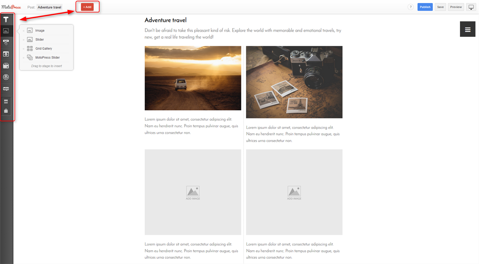 wordpress visual pahe builder
