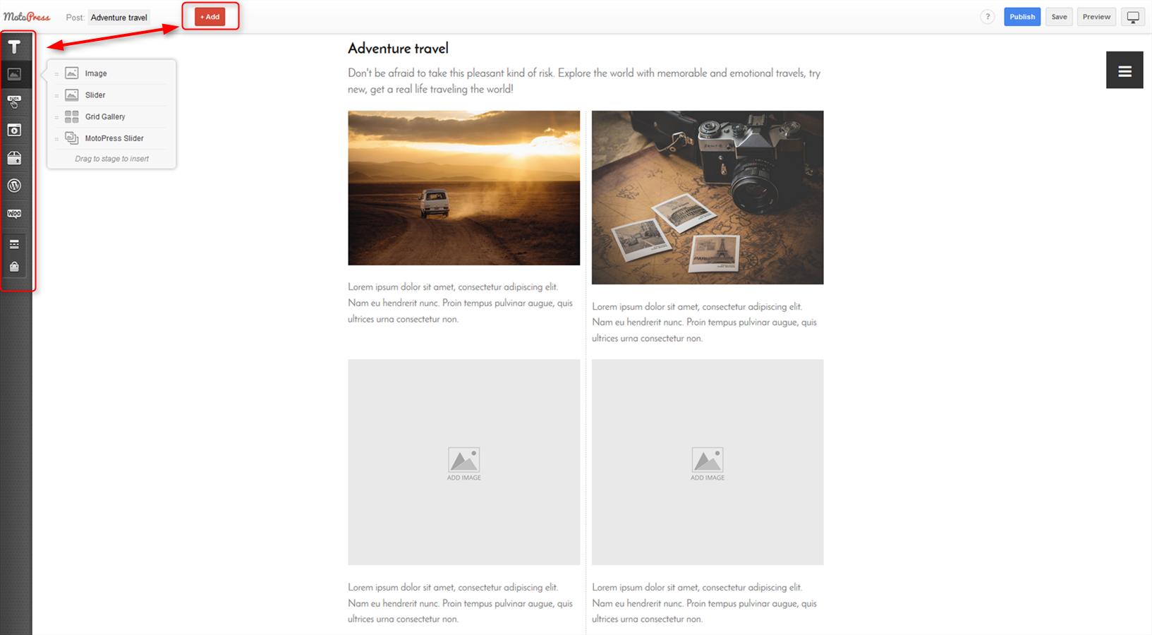 wordpress visual pahe builder