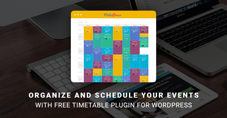 Free Timetable and Event Schedule plugin for WordPress