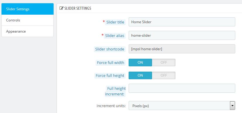 Full height/width