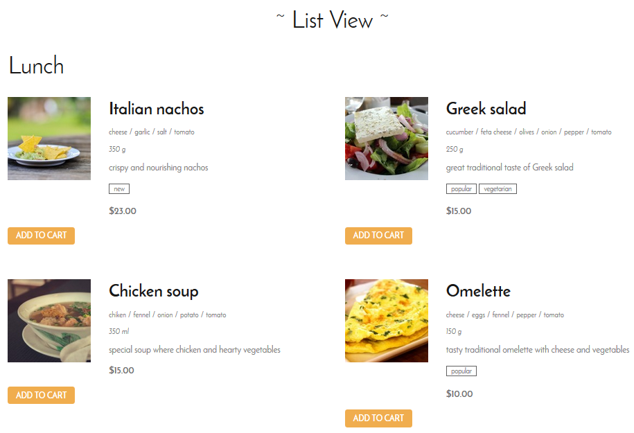 List View mode