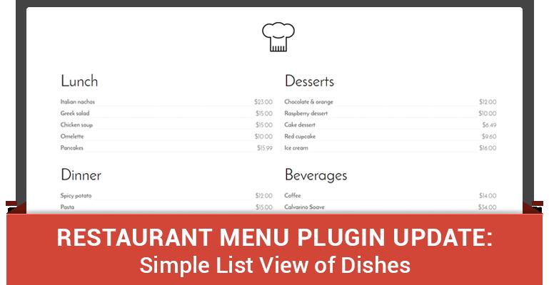 free restaurant menu plugin for wordpress noteworthy update motopress