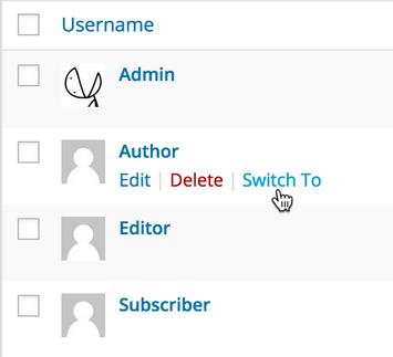 User Switching plugin
