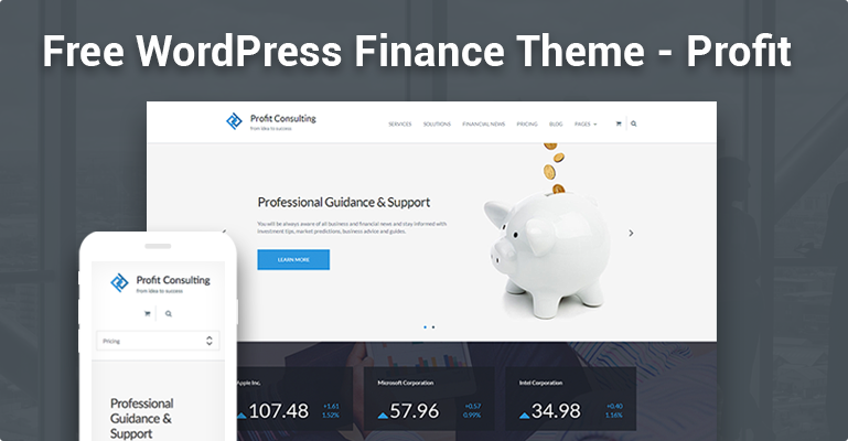 Free WordPress Theme - Profit