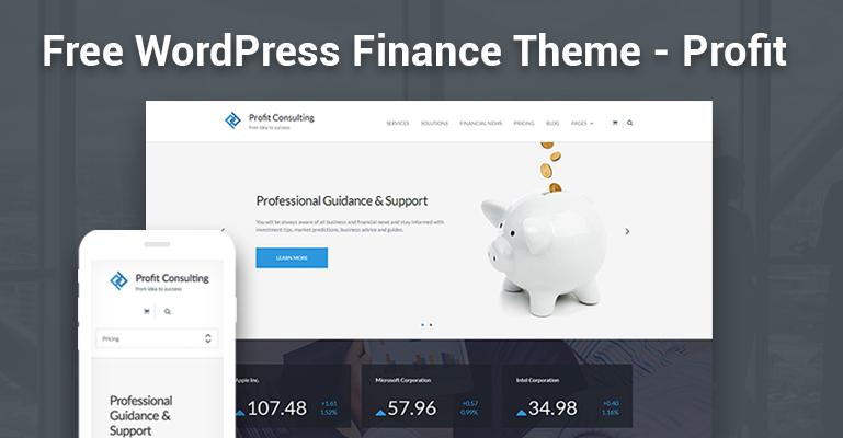 Free WordPress Theme - Profit