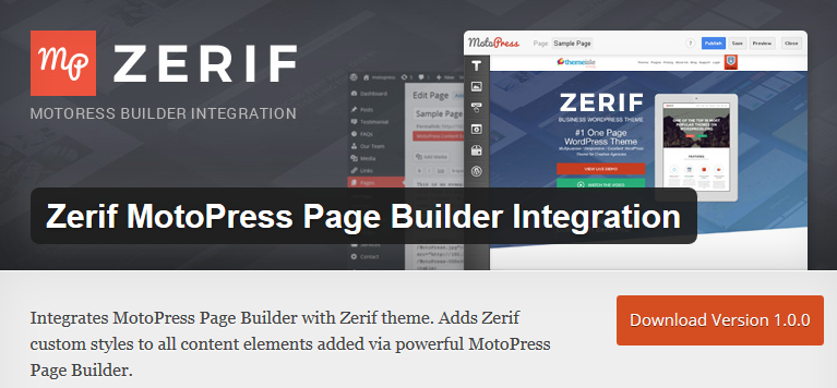 motopress zerif integration plugin