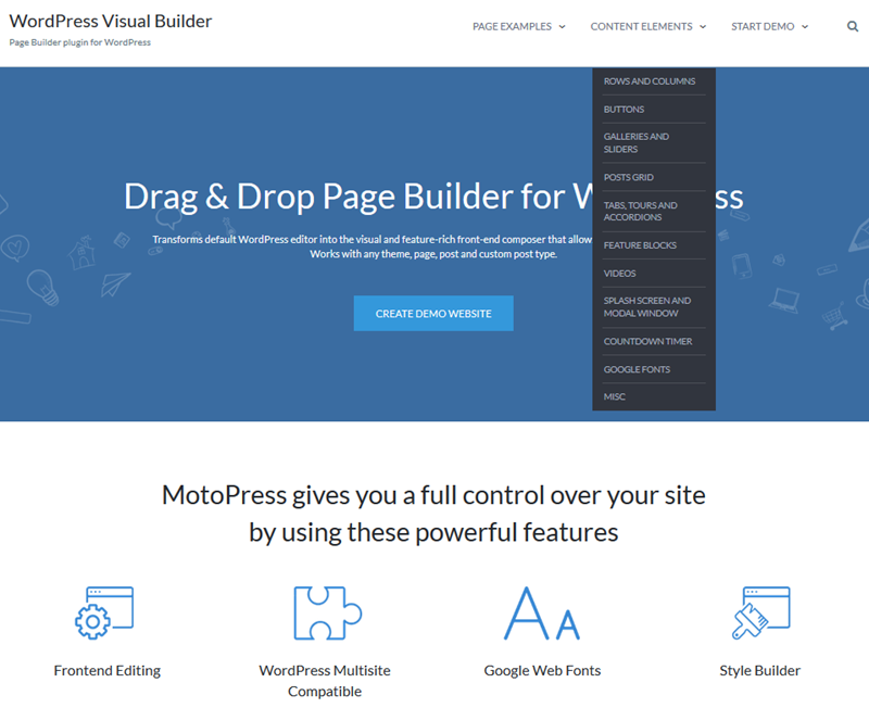 motopress demo builder