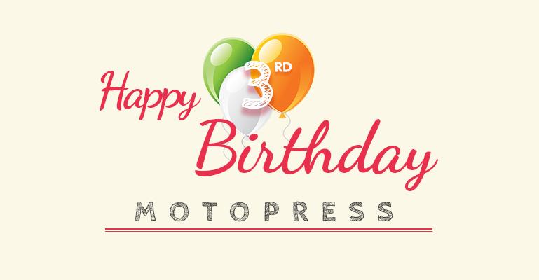 MotoPress Third Birthday