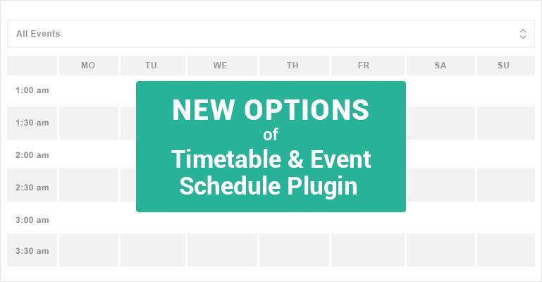 free timetable plugin