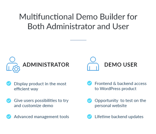 demo builder for wordpress