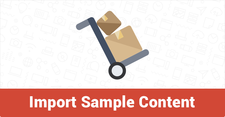 How to import sample content