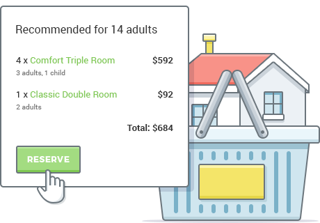 multiple rooms booking wordprss
