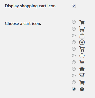shopping cart icons wordpress