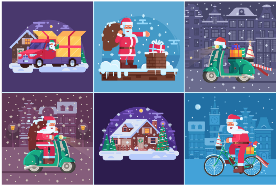 Christmas illustrations and cards