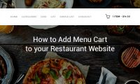 Download Free WordPress Restaurant Menu Addon: Customizable Menu Cart