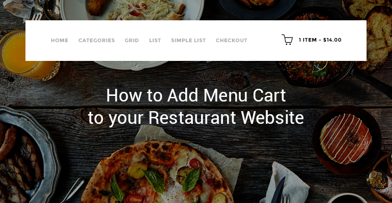 how to add menu cart to your restaurant website