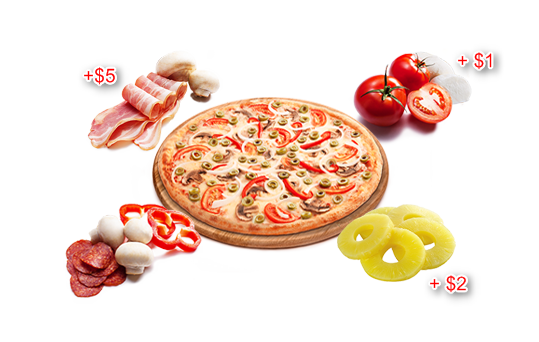 toppings addon for restaurant menu