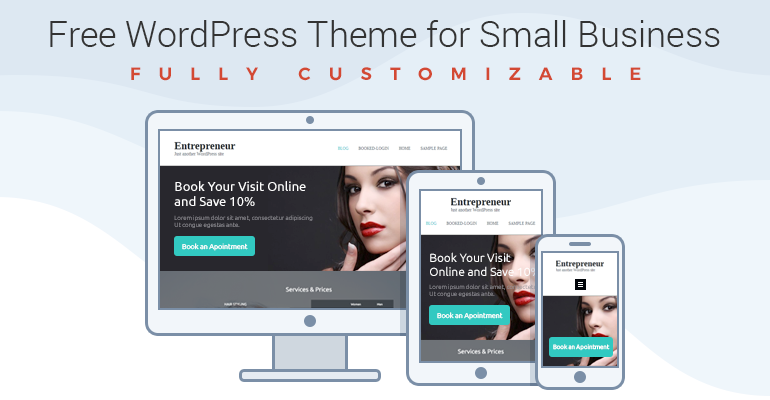 Free WordPress Theme for Entrepreneurs - Build Website in a Few ...