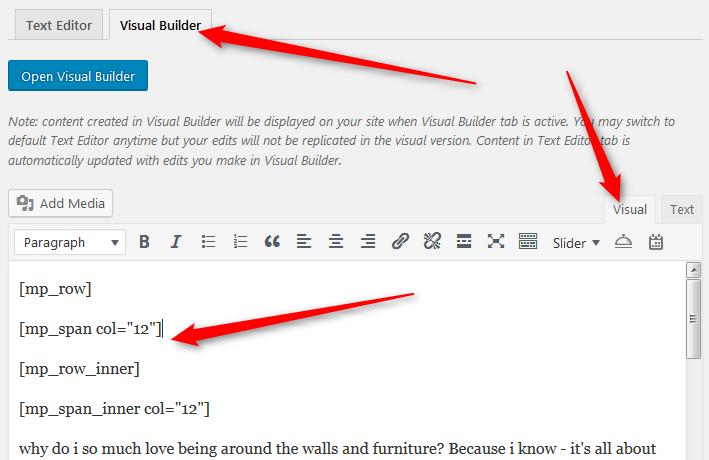 edit shortcode WordPress editor