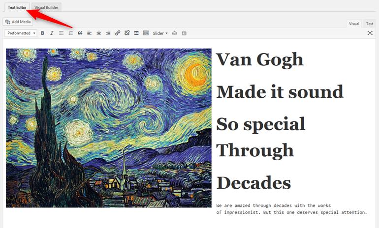 wordpress visual builder