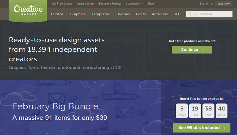 creative market marketplace for wordpress
