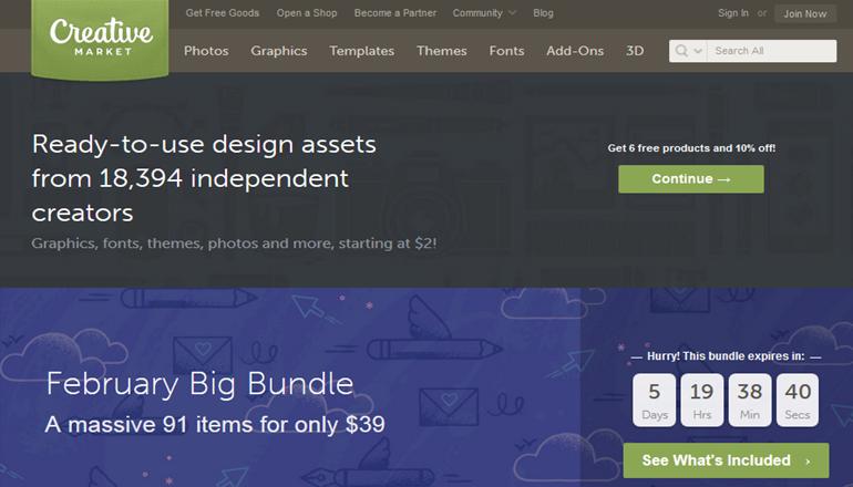 creative market marketplace for wordpress