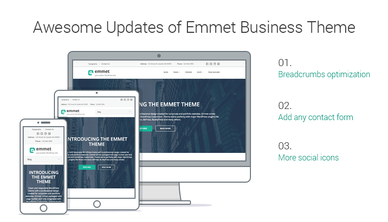 Emmet WordPRess business theme