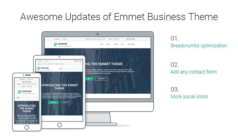 Emmet WordPRess business theme