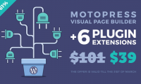61% Off on MotoPress Visual Builder + 6 Plugin Extensions!