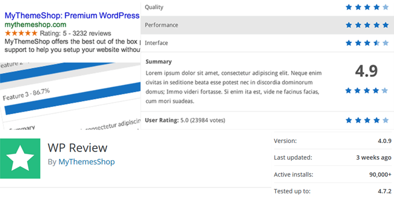 WP review wordpress plugin