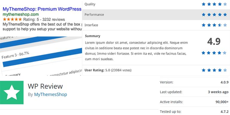 WP review wordpress plugin