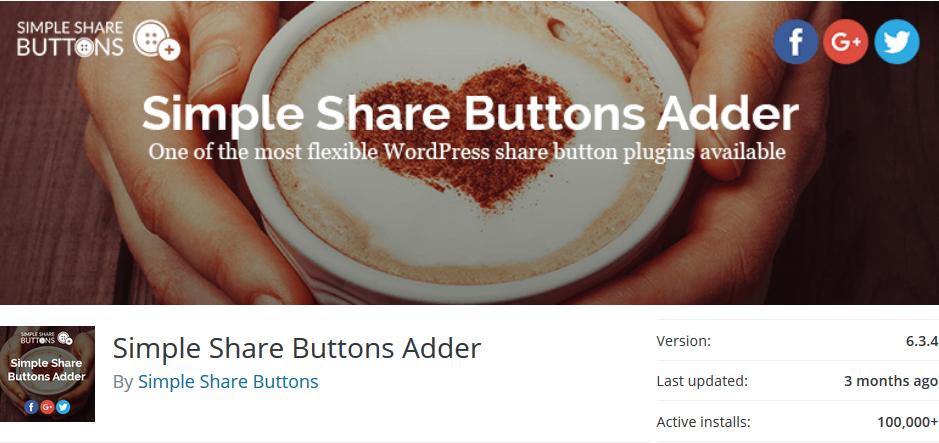simple sharer for wordpress