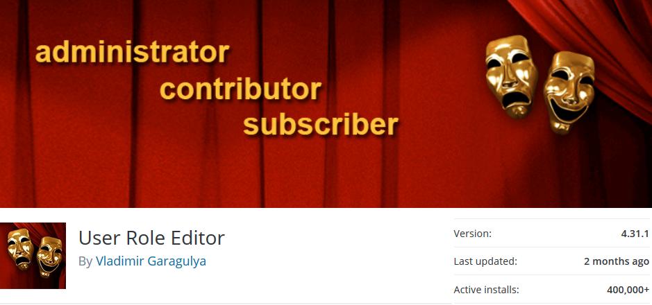 user role editor plugin